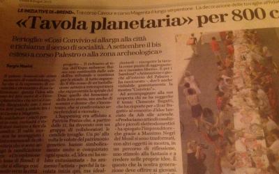 Brescia Oggi – Tavola Planetaria